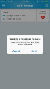 Sending a request for information through ReKall.