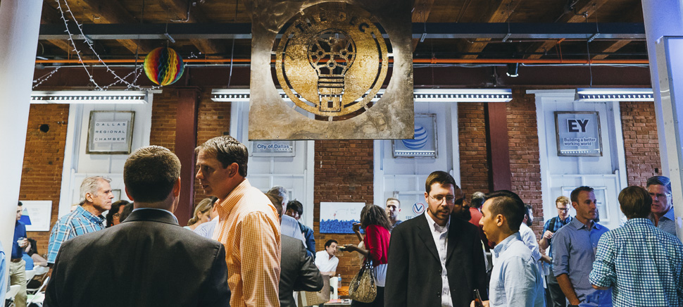 The Plugged event at the DEC drew a mix of entrepreneurs, investors, and C-suite types from all over the region. [Photo via the DEC by Saltbox Film Co.]