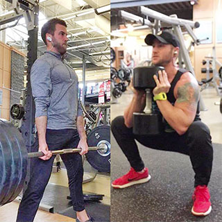 Phil Letten (on left) and Matt Letten (on right) getting in their daily workout. Photo courtesy of Matt and Phil Letten.