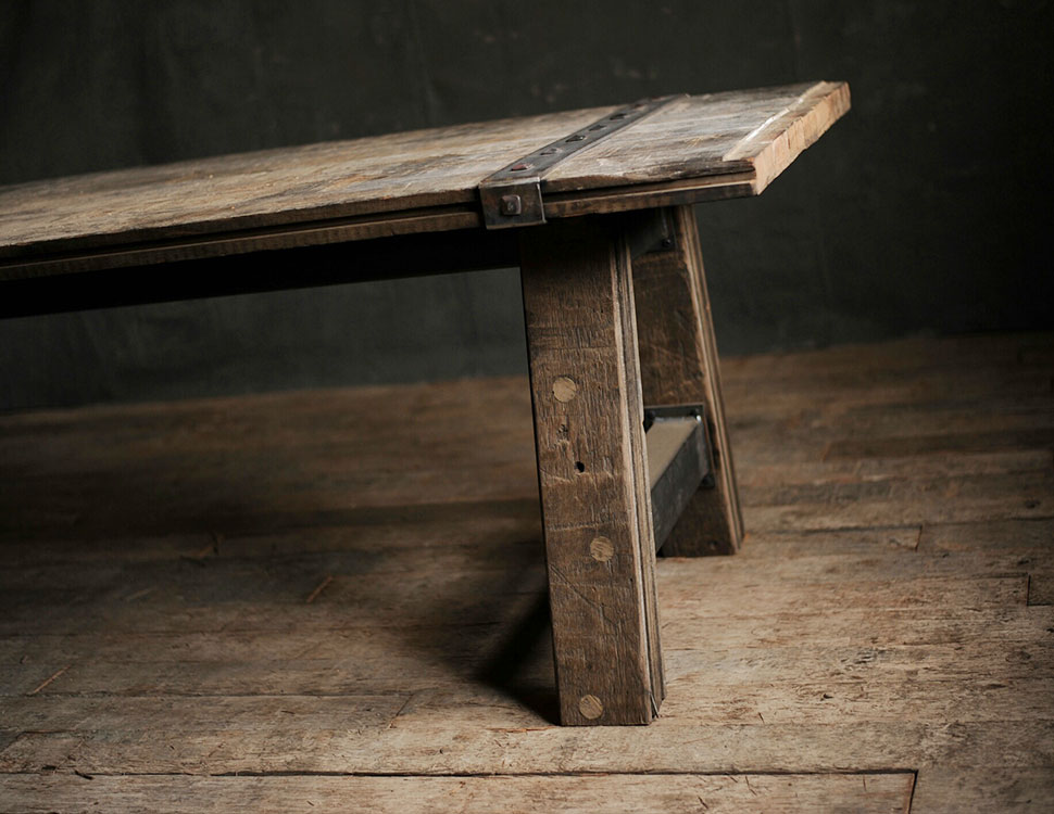 Furniture made by Boxcar Revival.