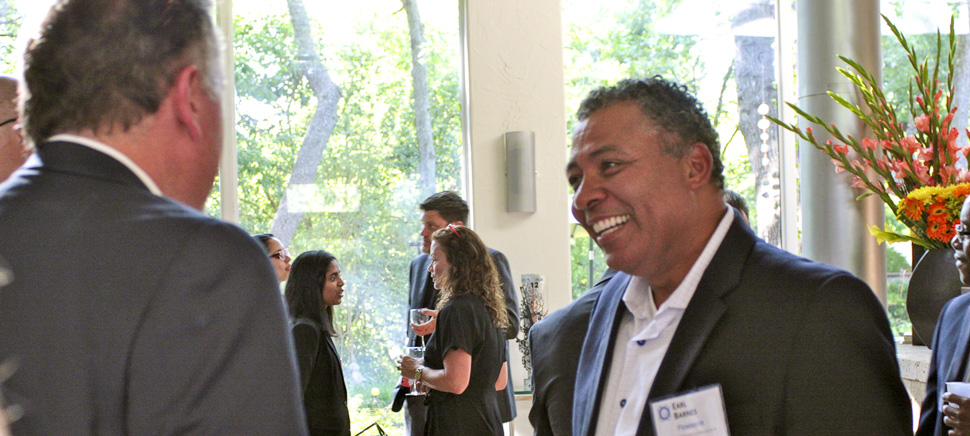 Technology Ball Executive Host Earl Barnes, Head of Global Infrastructure, Flowserve. [Photo via Technology Ball]