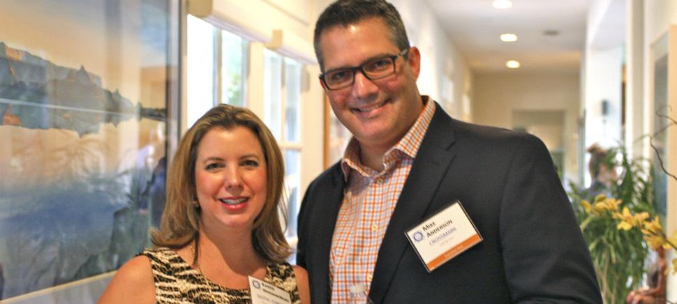 Karen Krygowski Bruno, President & Founder, Digital Conduit/Technology Ball and Executive Host Mike Anderson, SVP & CIO, Crossmark. [Photo via Technology Ball]