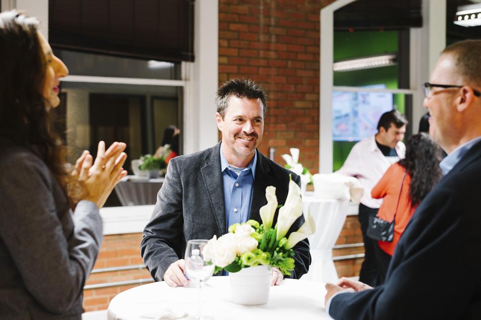 UM execs mingling with guests. [ Photo via Universal Mind ]