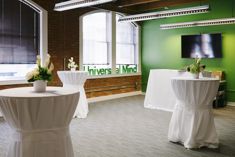 The UM office, pre event. [ Photo via Universal Mind ]