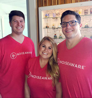 Co-founder Dave Krauss, Community manager Christine Saba and co-founder Andrew Schulz.