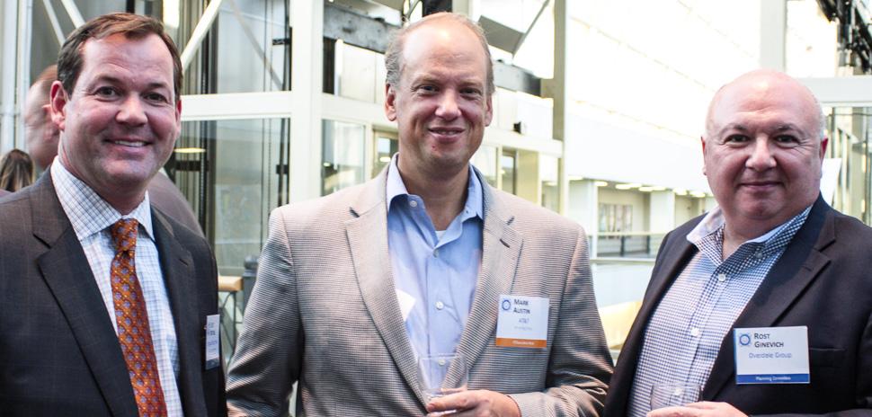 Scott Mitchell, Infomart Data Centers; Executive Host Mark Austin, VP Big Data, AT&T; Rost Ginevich, Overdale Group