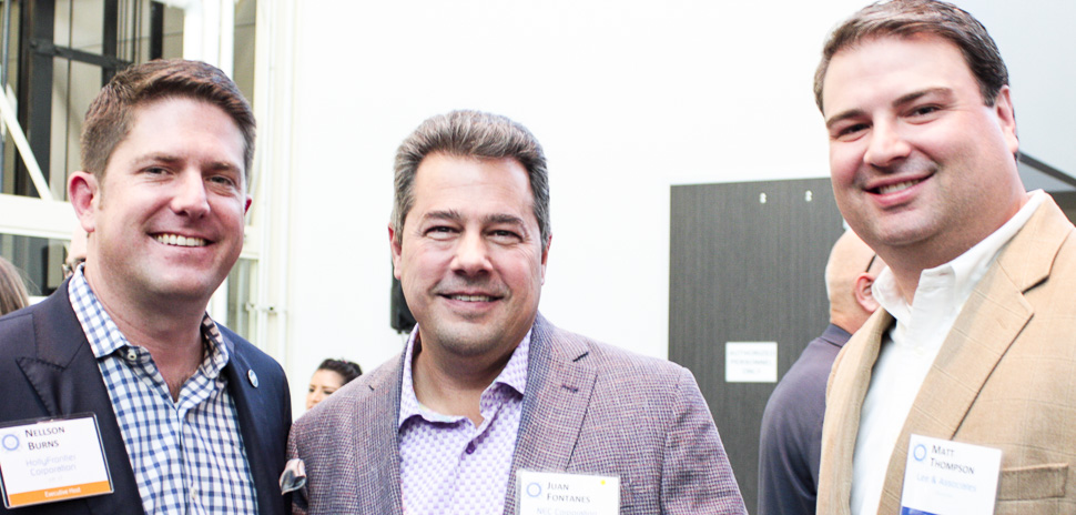 Executive Hosts Nellson Burns, VP IT, HollyFrontier and Juan Fontanes, VP IT - CIO, NEC Corporation of America with Planning Committee Member Matt Thompson, Lee & Associates