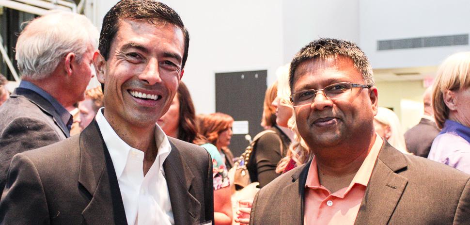Executive Host Roberto Arrocha, CIO, Davaco Inc with Sankar Azhakesan with DOYENSYS