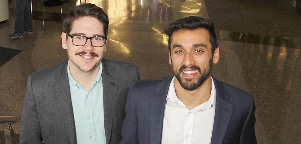 Andrew Brown and Omeed Shams UTD Alumni