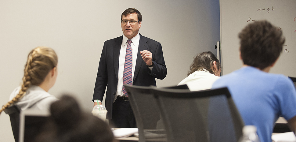 Lyle Faculty Duncan MacFarlane Entrepreneurship Class