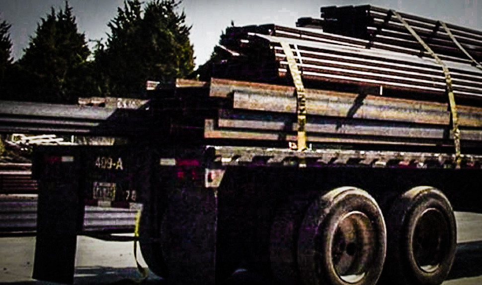 The LBJ Express project: From welding to delivery to delivery. [ Courtesy of QMF Steel ]