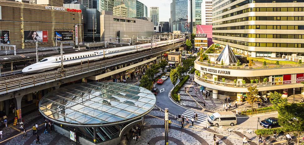 DA5M92 Japan, Asia, Tokyo, City, Ginza, District, Harajuku, station, Bullet Train, train, architecture, central, downtown, marunouchi,