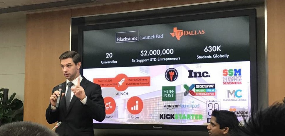 Blackstone Launchpad Director Bryan Chambers describes startup culture at UTD.