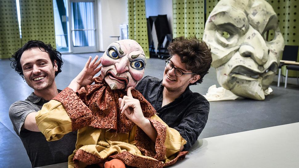 Stefano Brancato and Hood: James Ortiz puppet design