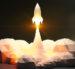 Blast off of space rocket