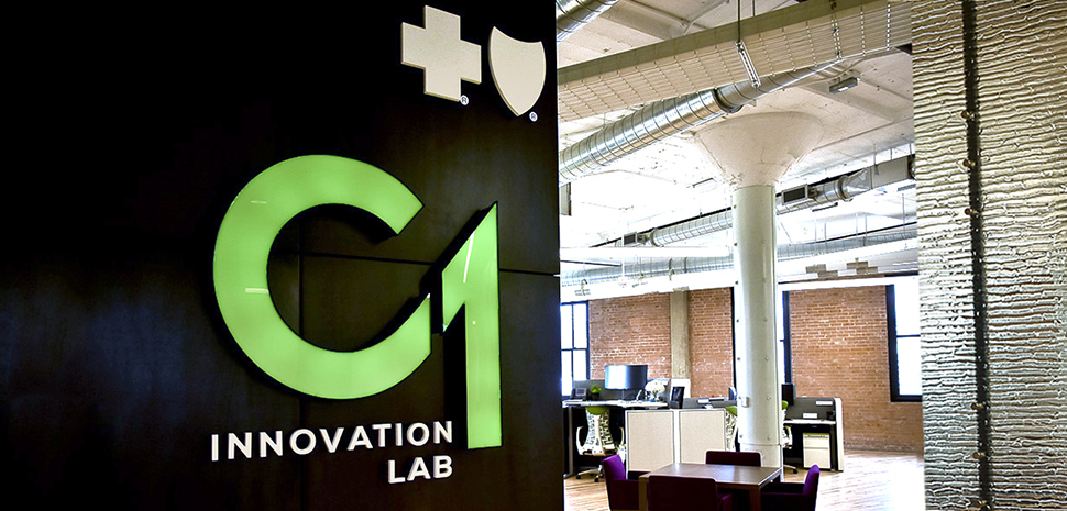 Blue Cross Blue Shield C1: Innovation Lab in the West End Dallas, Texas. Photo by Quincy Preston for Dallas Innovates.