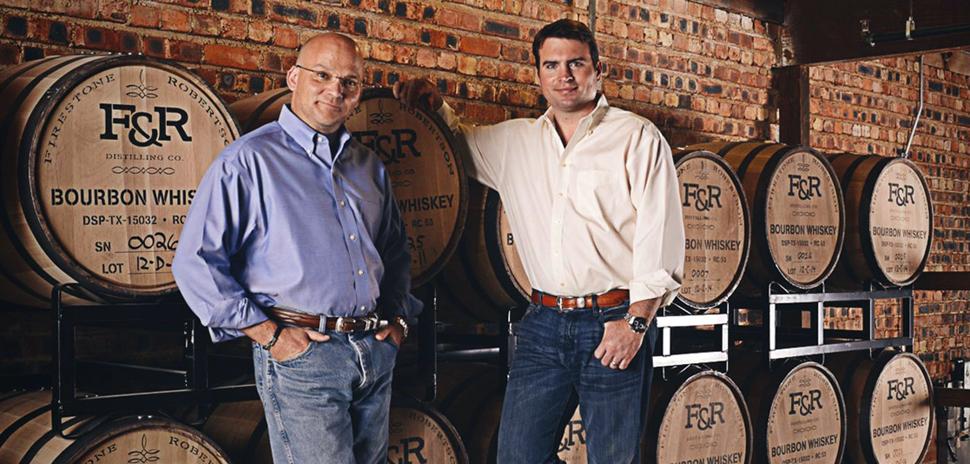 Firestone & Roberston Distilling Co. Founders Leonard Firestone and Troy Robertson