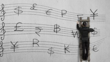 Musician and money stave
