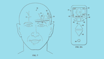 Syntilla Medical's newly patented surgical method for implantable head mounted neurostimulation system for head pain. [Images: USPTO]
