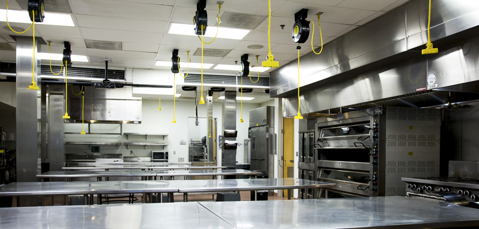 Pilotworks has eight shared kitchen spaces.